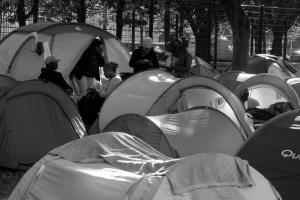 2015 septembre, Bruxelles, parc Maximilien.